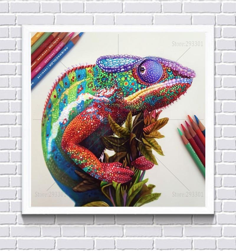 5D Diamond Painting Colorful Lizards Kit