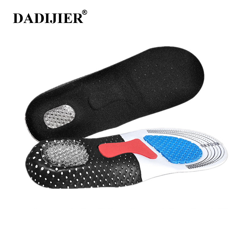 Silicone Gel Insoles Foot Care for Plantar Fasciitis Heel Spur Running Sport shoes Insoles Shock Absorption Pads Men Women STT02 image