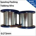 0 2*2 мм обмоточная упаковка  2 мм Солнечная PV лента  пайка солнечных элементов соединительный провод  оптовая продажа PV Tab провод  4 кг/шт.