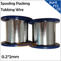 0.2*2mm Spooling Packing Tabbing Wire, 2mm Solar PV Ribbon, Soldering Solar Cells Connecting Wire, Wholesale PV Tab Wire, 4KG/PC