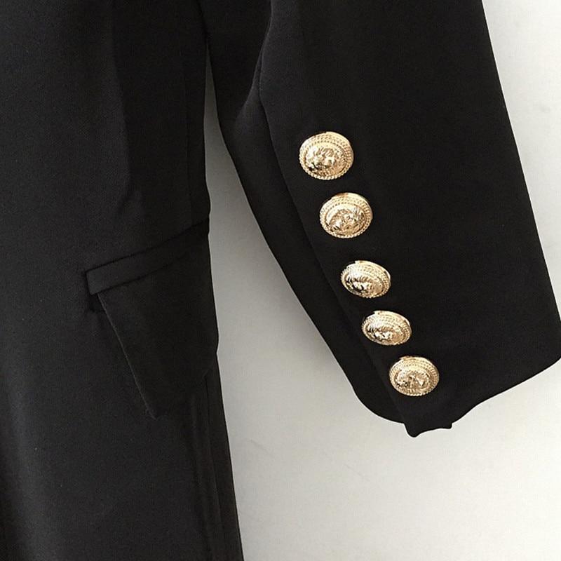 Designer Haute Costume Qualité Boucle Piste 2018 Robes De Hiver Black Principal Lâche Automne Robe Rangée Femme Nouvelle dgqxnAv