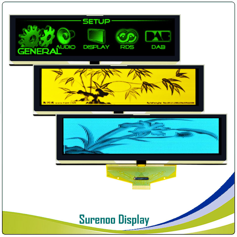 """Image 5 - Real OLED Display, 5.5"""" 256*64 25664 Graphic LCD Module Display Screen LCM Screen Build in SSD1322, 6080 8080 Parallel Seral SPI-in LCD Modules from Electronic Components & Supplies"""