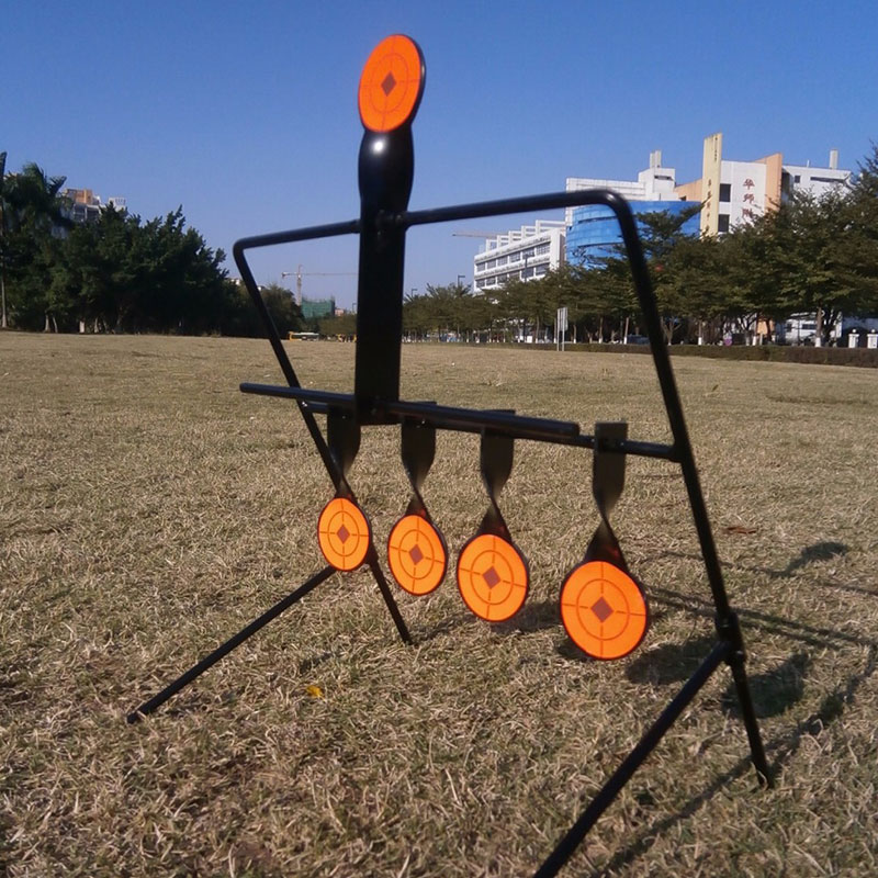 High Quality New Shooting 5 Targets Metal Automatic Reset Rotating Outdoor Hunting Practice Shooting Target Tactical