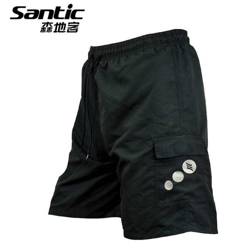 Santic Cykel Shorts Herre Anti-sved Gel Pad MTB Shorts Downhill Cykel Undertøj Mountain Bike Shorts Mand Padded Ciclismo 50
