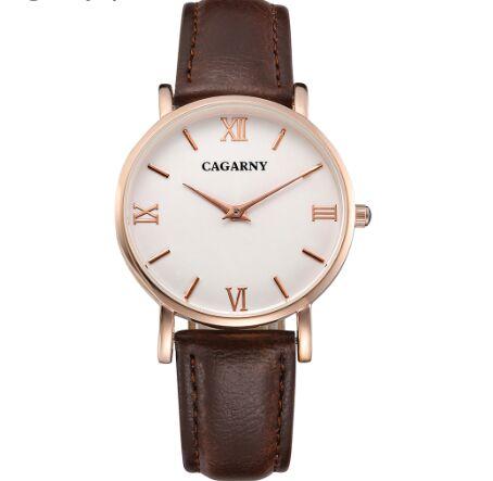 27d7903c993 2017 top marca de luxo relógio feminino pulseira de couro business casual  roman digital à prova