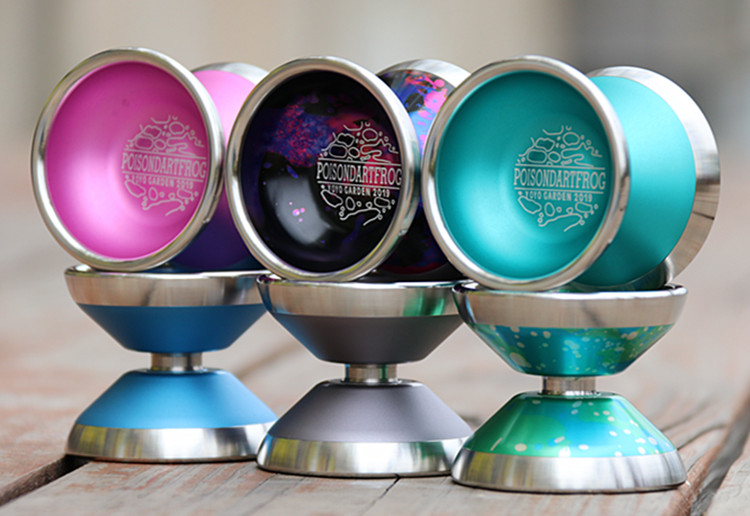 Nouveau Arrivent YYG Poisondartfrog yoyo petit YOYO en métal professionnel Concurrentiel yo-yo jouets classiques yoyo