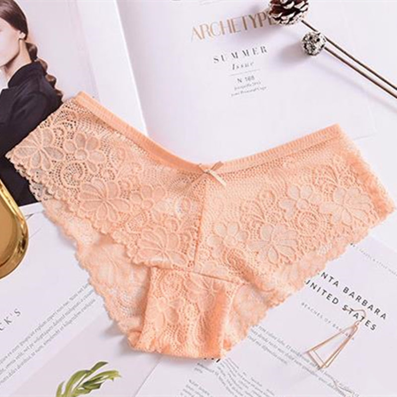 2018 Hot Lace Sexy Panties Low Rise Transparent Lace Floral Panties Women Sexy Lingerie Breathable black nude Briefs Underwear in women 39 s panties from Underwear amp Sleepwears