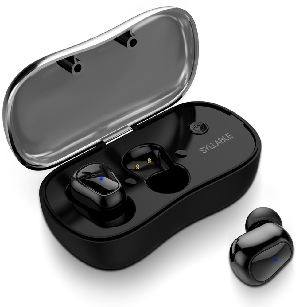 Syllable TWS Bluetooth Wireless Earphones Sports Earphones With Microphone For Android IOS Mini Stereo Earbuds With Charging Box-in Bluetooth Earphones & Headphones from Consumer Electronics    1