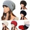 2014 Unisex Plisada Tapas Hip Hop Caliente Beanie Cap Otoño Invierno Primavera Mujer Hombre Sombreros de Punto Gorros Envío Gratis