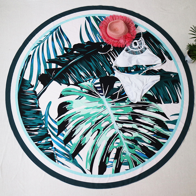 Floral Printed Round Blanket/ Shawl/ Wrap Skirt