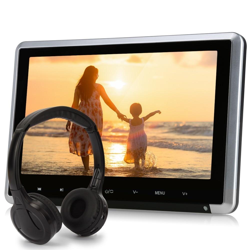 Pumpkin 10.1 Black Car Headrest DVD Player HD Digital TFT Screen With HDMI Port Car Monitor Support 1080P Vedio 32 Bits Games