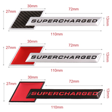 Aluminum Motorsport SUPERCHARGED Car-styling Decal Emblem Badge Car Sticker for Audi A3 A4 A5 A6 Q3 Q5 Q7 S4 RS Auto Accessories