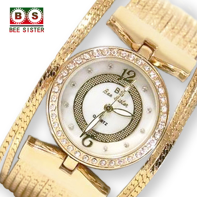 BS Brand reloj mujer Fashion Quartz Women's Watches Ladies Bracelet For Watch Go
