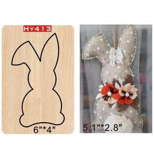 Image 1 - Деревянная высекальная Штамповка с милым кроликом подходит для стандартных высекальных машин на рынке
