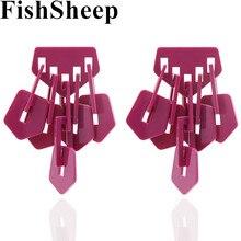 FishSheep массивные Модные Акриловые Смолы бахрома серьги для женщин брендовые большие геометрические Висячие серьги вечерние Ювелирные изделия Подарки