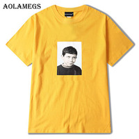 Aolamegs T Shirt Men Boy Funny Print Men S Tee Shirts Hip Hop Short Sleeve O