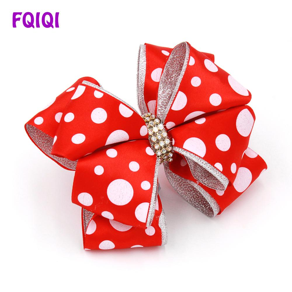 FQIQI 5 Inch Large Ribbon Silver edge Hair Bow Clips For Girls Handmade Baby Headband Dance Party Kids Baby Hair Accessories-in Hair Accessories from Mother  Kids on Aliexpresscom  Alibaba Group