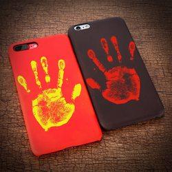KISSCASE Température Cas Pour iPhone 8 7 6 6 S Plus Thermique décoloration Téléphone Couverture Pour iPhone 5 5S SE X 10 Coquilles accessoires