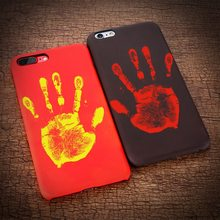 KISSCASE Matte PC Ultra Thin Case For iPhone 5 5S SE 6 6S 7 7Plus Thermal Induction Discoloration Phone Shell