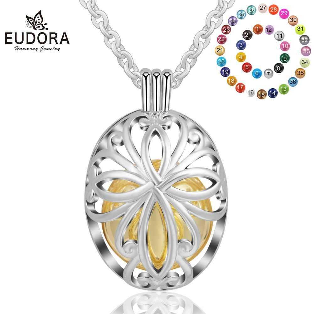 Eudora เงิน 18 มิลลิเมตรเซลติกส์ Knot เม็กซิกัน Bola สร้อยคอ Bola Musical Ball ไข่จี้สำหรับเครื่องประดับสตรี k237N18