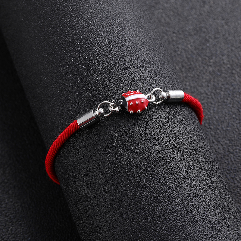 Lucky red rope Infinity Ladybug Love Charm Bracelet Braided Red Rope Bracelet for Women Men Adjustable Handmade Bracele