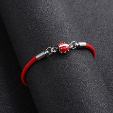 Lucky red rope Infinity Ladybug Love Charm Bracelet Braided Red Rope Bracelet for Women Men Adjustable Handmade Bracele(China)