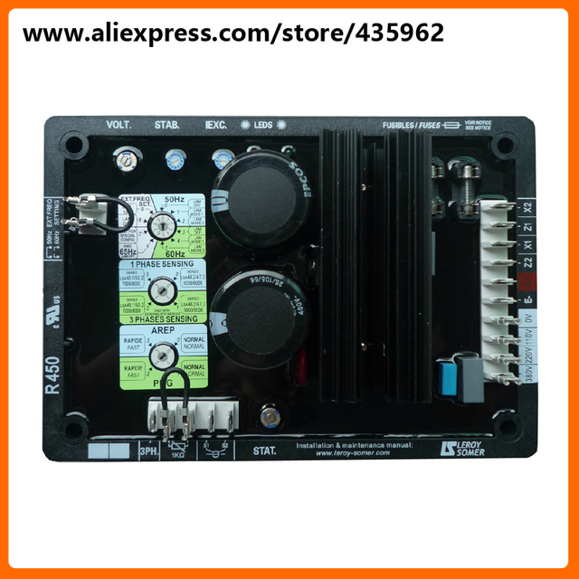 Alternator high quality generator spare part voltage regulator automatic Lorysomer R450 AVR_640x640 alternator high quality generator spare part voltage regulator r450 avr wiring diagram at alyssarenee.co