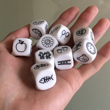 9 pcs Dice Telling Story with Bag Game English Instructions Family/Parents/Party Funny Imagine Magic Toys