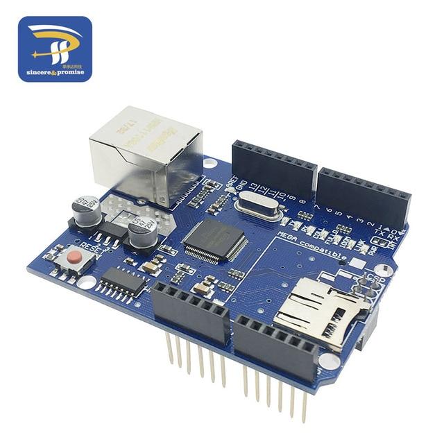 UNO Escudo Ethernet Shield Wiznet W5100 R3 UNO Mega 2560 1280 UNO 328 R3 W5100 Development Board PARA Arduino Micro cartão SD um