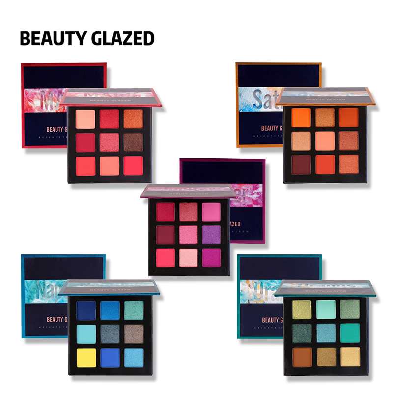Beauty Essentials Hot Sale Beauty Glazed Matte Shimmer Eyeshadow Palette 9 Colors Long Lasting Smooth Professional Makeup Pigment Eye Shadow Kit Selected Material
