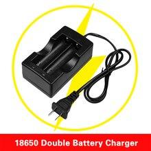 18650 двойное зарядное устройство, проводное зарядное устройство, штепсельная вилка EU/US для литий-ионного аккумулятора 18650