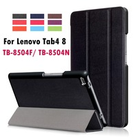For Lenovo Tab4 8 TB 8504F TB 8504N Business Painted Print PU Leather Flip Smart Sleep