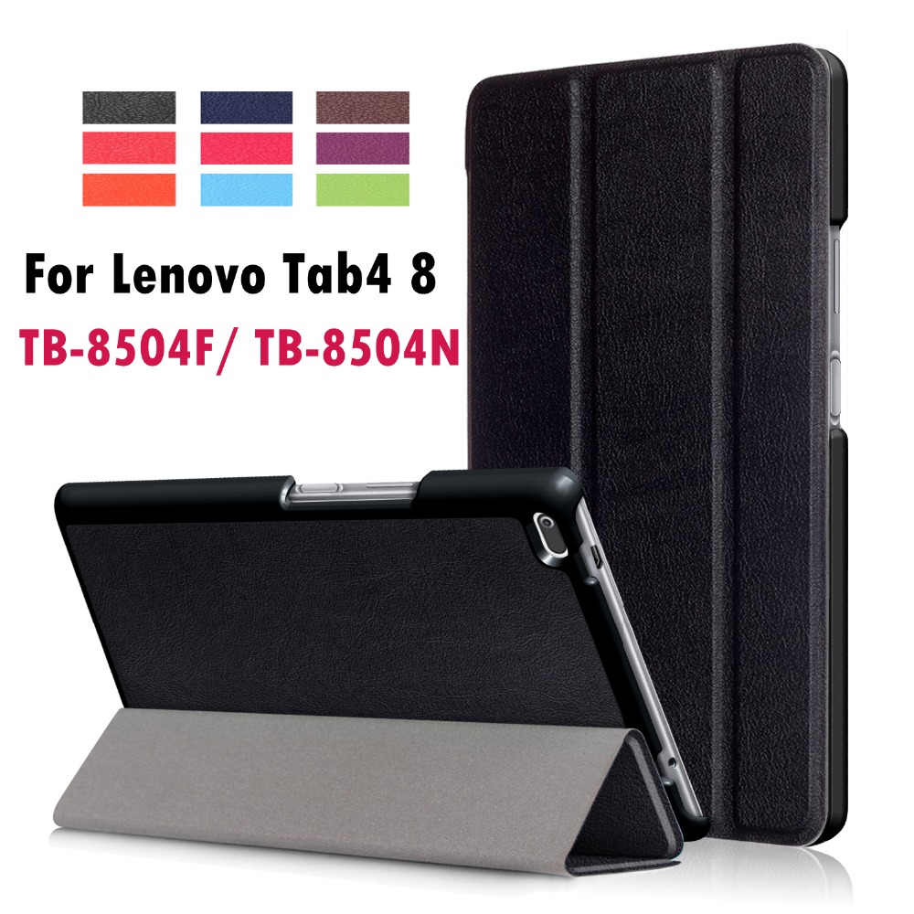 For Lenovo Tab4 8 TB 8504F TB 8504N Business Painted Print PU Leather Flip Smart Sleep