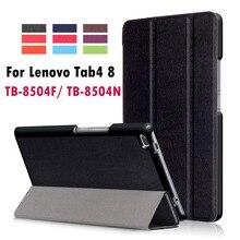 Para Lenovo Tab4 8 TB-8504F TB-8504N Negocio Pintado Imprimir PU de cuero Elegante Del Tirón Del Sueño de la Cubierta Para Lenovo Tab 4 8.0