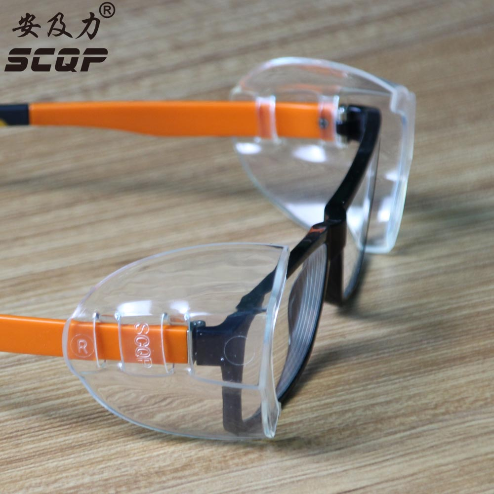 PVC Safety Optical Aye Mate Universal Sideshield  (One Pair) Side Shields Glasses Wings Safety Glass Flexible Slip-On Protector