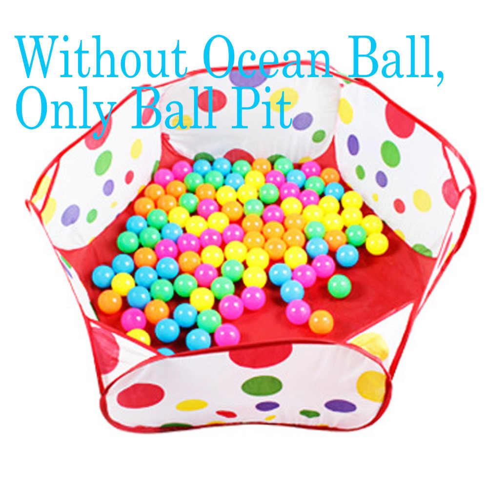 Anak-anak Bayi 1.2 M Merah Plastik Tahan Air Lipat Bola Laut Pit Boks Laut Bola Kolam Renang Tenda Bermain Game bola Playhouse Mainan Olahraga