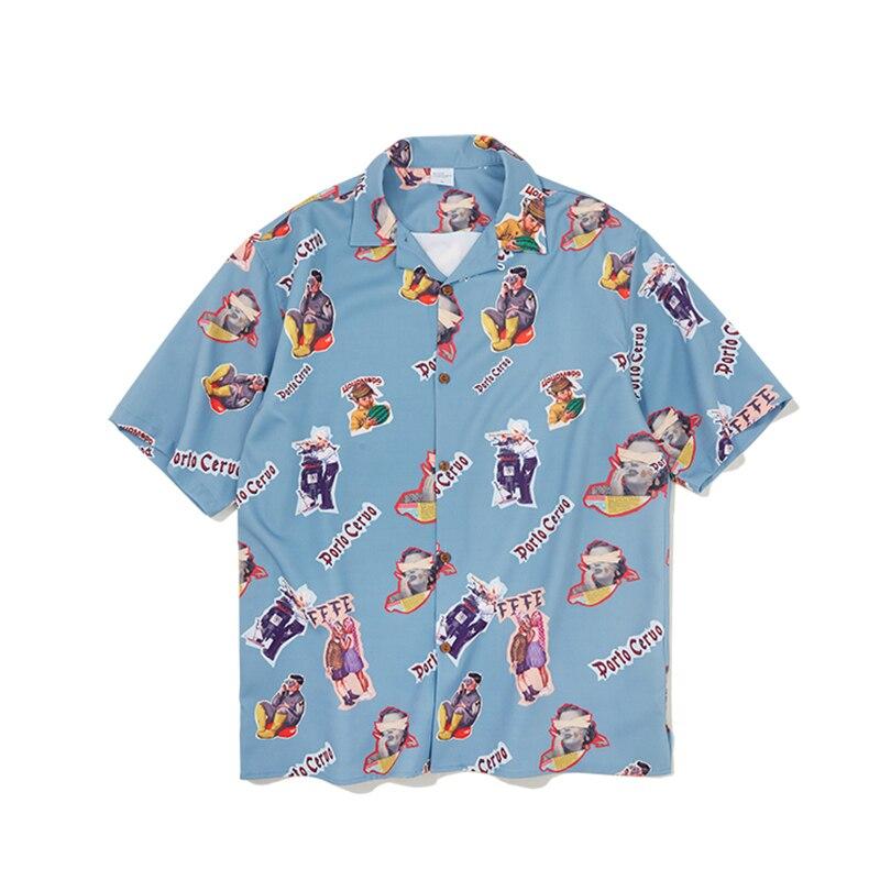UNCLEDONJM Men clothing 2019 japanese streetwear mens shirts mens dress shirts plus size ulzzang men rock n roll shirt 199S Рубашка