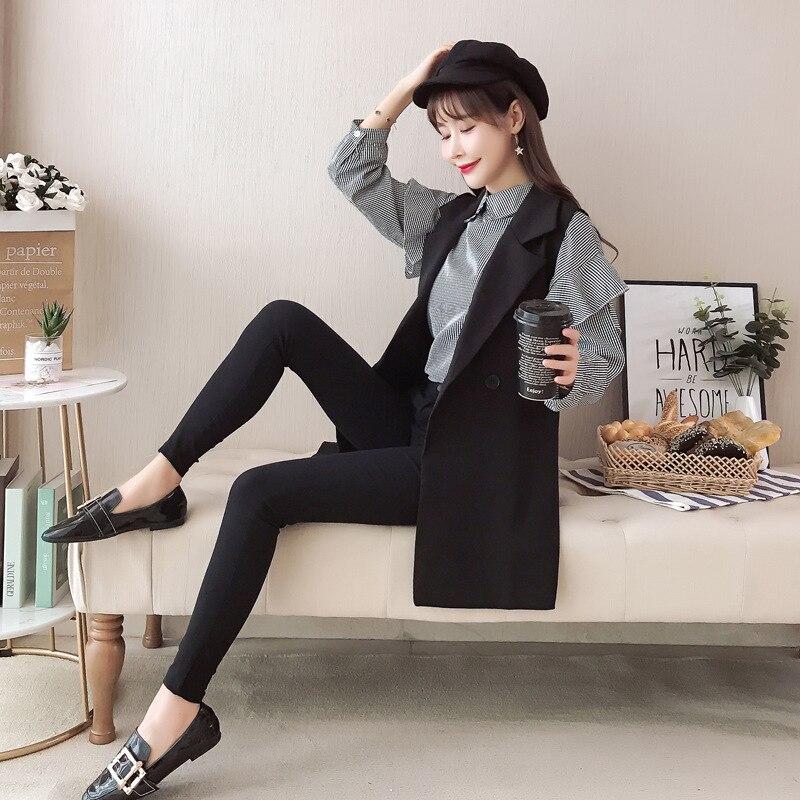 Gagarich 2019 Spring Women Two Piece Set New Fashion Marquee Temperament Fashion Female Plaid Shirt & Black Vest 8
