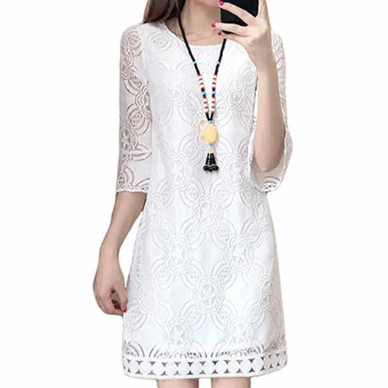Lace Party Mini Dresses Sexy Club Vintage Beach Sun Dress Female Large Size Korean Women Summer Dresses