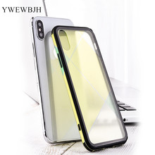 YWEWBJH Mobile phone shell square glass case Case For iphone 8 7 Plus 6 6s  X XR XS MAX 10 Cover