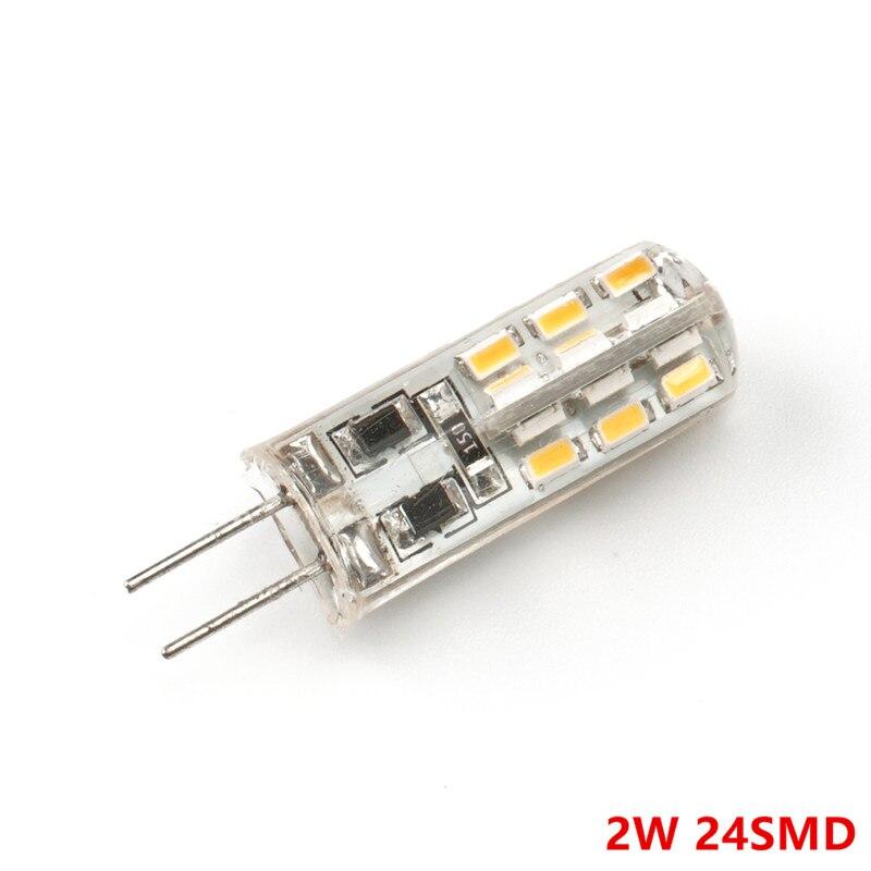 20pcs G4 2W/4W LED Lamp DC12V SMD3014 24/48LED Warm White/White LED Silicone Light 360 Degree Angle LED Bulb Free Shipping