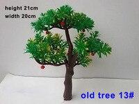 Tworzywo abs Drzewa Modelu z czerwonych owoców 3D modelarstwo Pociąg Sceneria Krajobraz Skala 21 cm