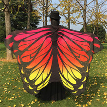 Gradient Color Chiffon Butterfly Wing Shawl