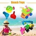 3 Pcs Cavar Areia Ancinho Pá Pá Chaleira Footed Para Crianças Bebê Divertido Brinquedos de Praia de Plástico de Alta qualidade
