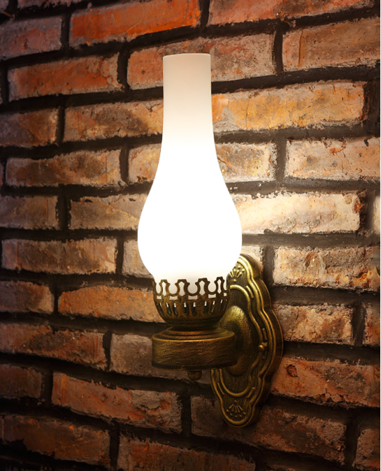 Southeast Asia style vintage design crackle glass wall lamps American rural E27 LED iron lamp for stairs&cafe&porch&aisle LDK023 lamps wall lamp led lamps handicraft southeast asia amorous feelings vintage wooden bergamot wall lamp sconce home lighting