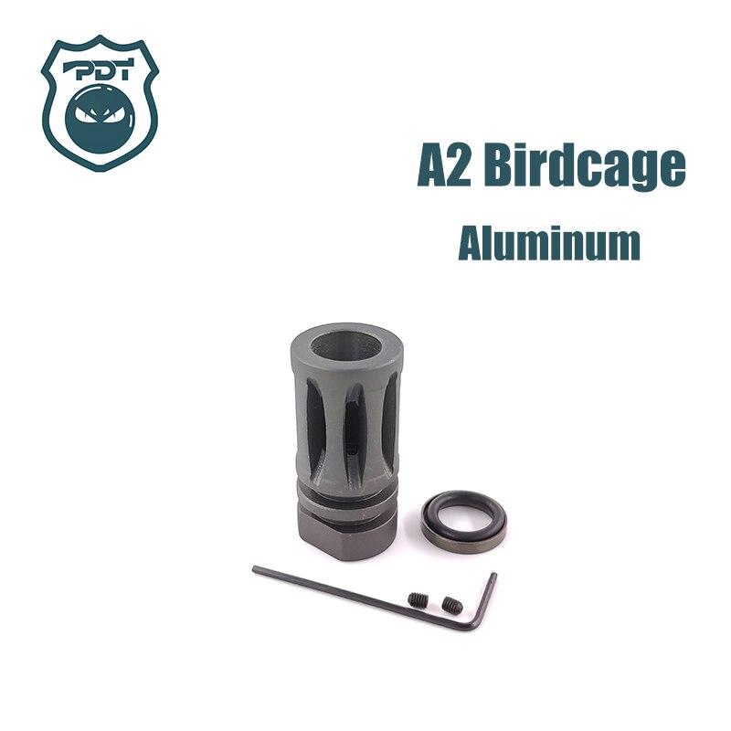 14mm-ccw-fil-m4-m16-a2-cage-a-oiseaux-flash-hider-pas-de-fonction-dispositif-de-museau-pour-jinming-gen9-j9-boule-de-gel-d'eau-blaster-aeg-airsoft