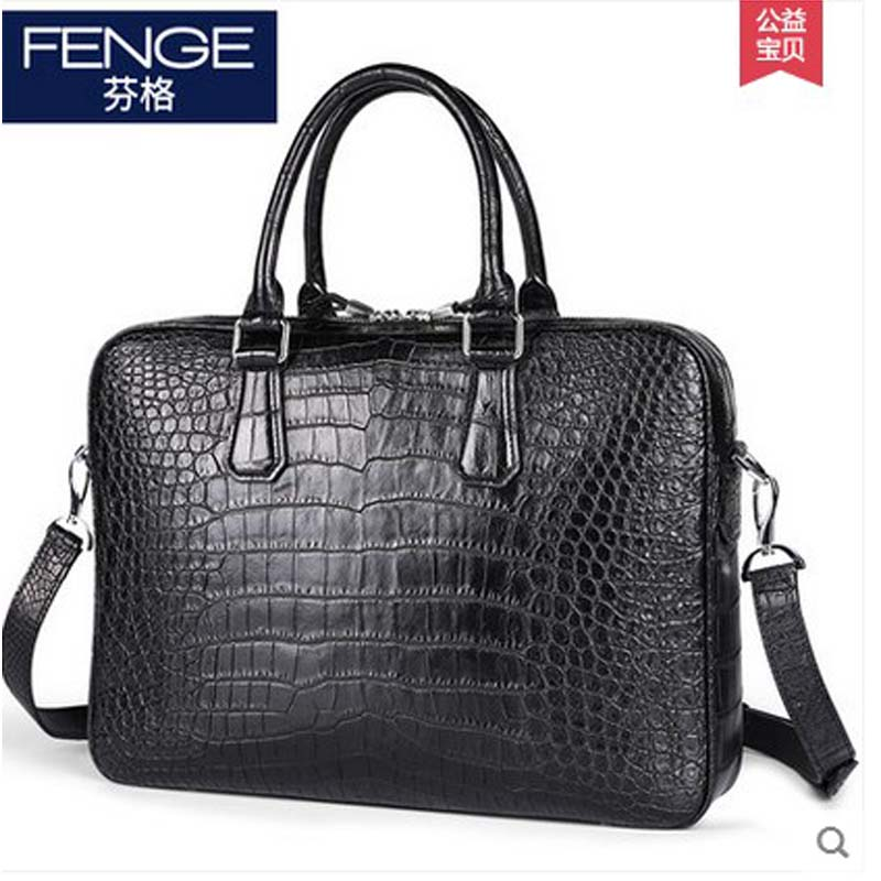 Fenge portable bag business male crocodile belly men handbag cross section men briefcase leather single Shoulder men bag delin men bag business package men s handbag shoulder bag cowhide briefcase cross section first layer leather bag men s section