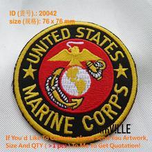 Железная нашивка, американский морской корпус для вышитых патчей, нашивка на заказ, 20042