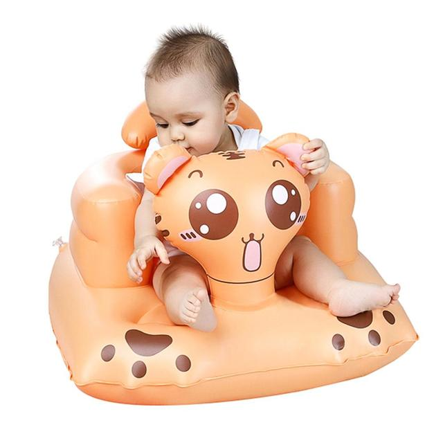 Cartoon Multifunctional Baby Seat Inflatable Chair Sofa Bath Seats Dining Pushchair  Infant Portable Bath Stool For Babies