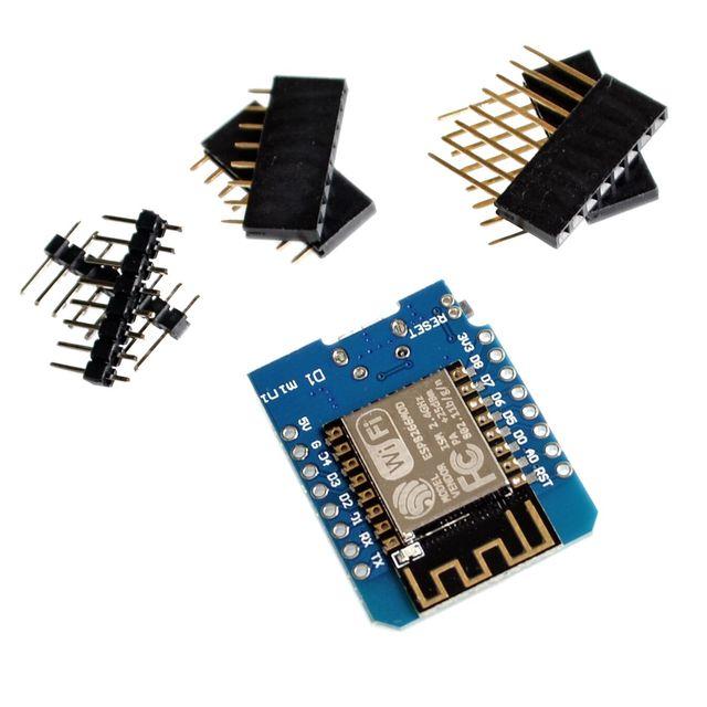 ESP8266 ESP-12 ESP-12F CH340G CH340 V2 USB WeMos D1 Mini WIFI Development Board D1 Mini NodeMCU Lua IOT Board 3.3V With Pins